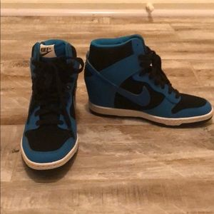 Blue Nike Hightops